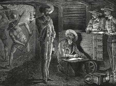 Télégraphie centrale de l'usine du Creusot. 1867. Dessin de A. de Neuville d'après François Bonhommé.